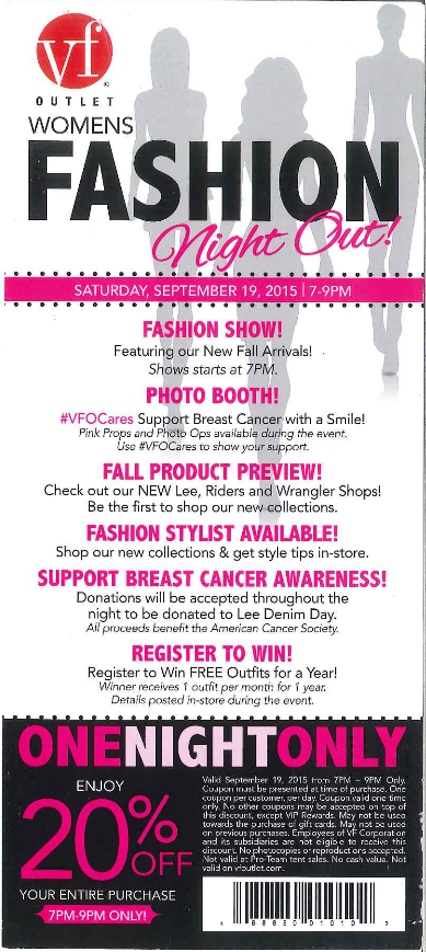 womens fashion night out fashion show announcement