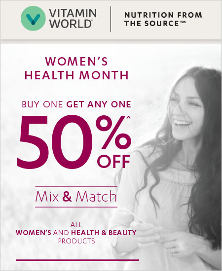Vitamin World Coupon, MIX & MATCH, Buy One Get Any One 50% OFF