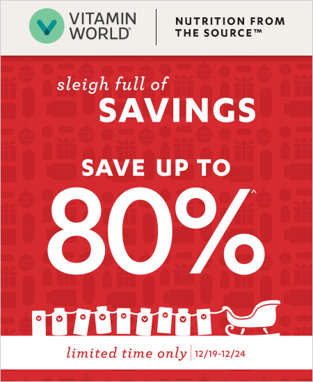 Vitamin World Coupon – Up to 80% Savings