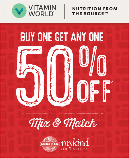 Vitamin World Coupon – Buy One Get One 50% Off