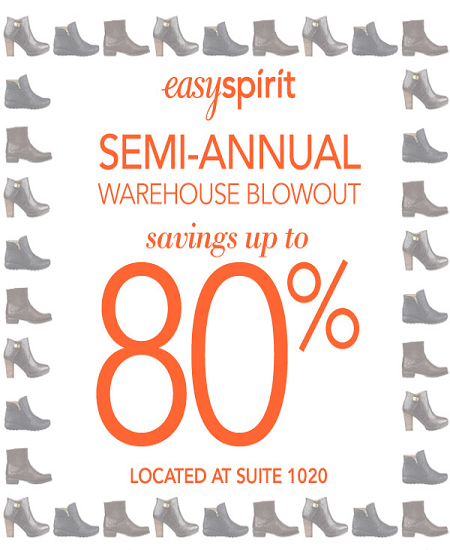 Easy Spirit Semi Annual Warehouse Blowout 80% OFF