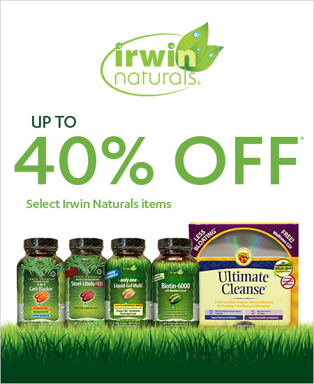 Vitamin World Coupon – Up to 40% OFF Irwin Naturals