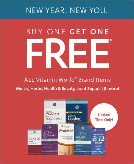 Vitamin World Coupon Buy One Get One Free