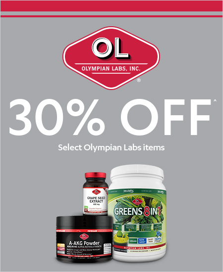 Vitamin World Coupon – 30% OFF Olympian Labs Items