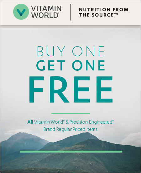Vitamin World Coupon – BOGO Vitamin World & Precision Engineered Brand Items