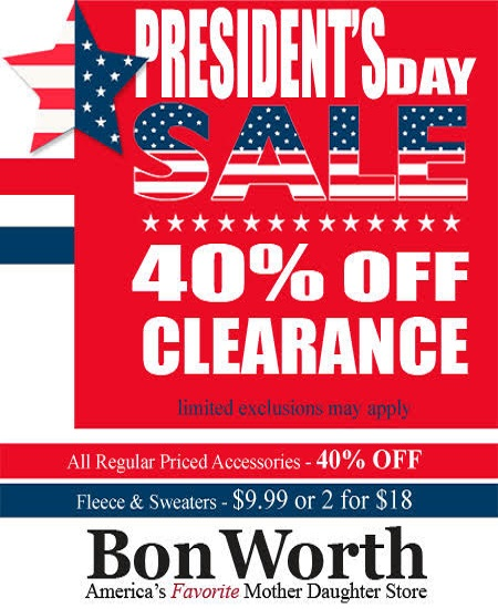 Bon Worth Presidents Day Sale