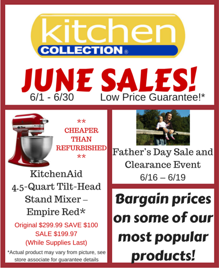 Kitchen Collection June Sales