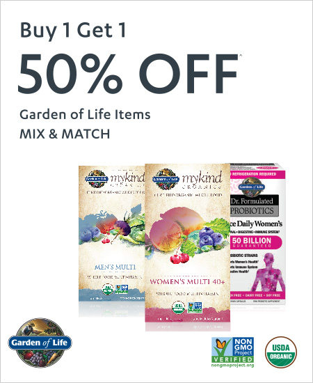 Garden of Life Items – Mix & Match, Buy 1 Get 1, 50% OFF