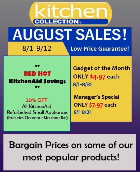 Kitchen Collection August Sales