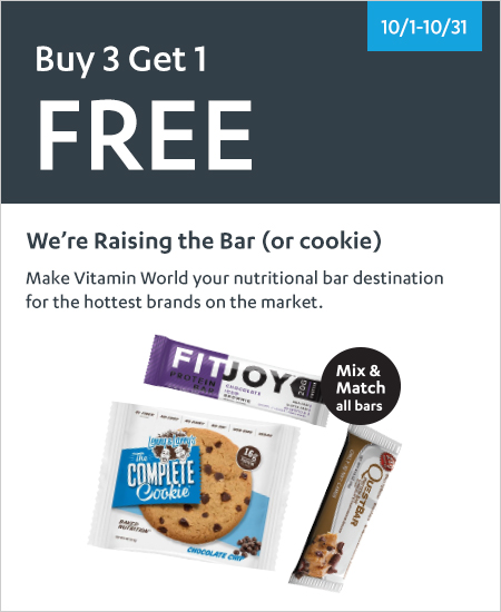 We're Raising The Bar – Mix & Match, Buy 3 Get 1 Free All Bars & Cookies