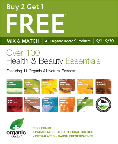 All Organic Doctors – Buy 2 Get 1 Free Mix & Match, Over 100 Healthy & Beauty Essentials