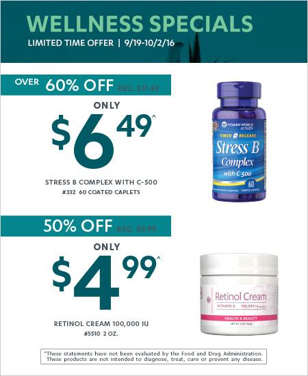 Wellness Specials – Save Over 60%