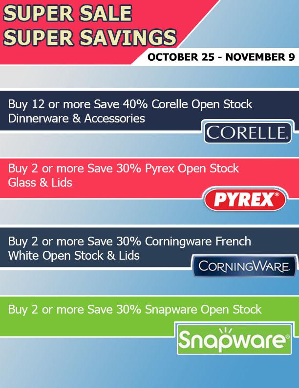 Super Sale, Super Savings!