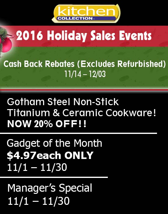 Kitchen Collection – 2016 Holiday Sales Event