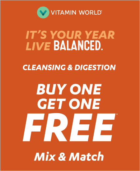 Vitamin World – Buy One Get One Free, Cleansing & Digestion, Mix & Match