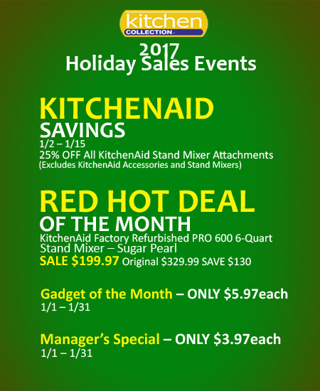 Kitchen Collection – 2017 Holiday Sales Events