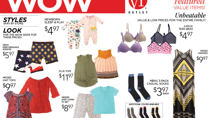 VF Outlet – WOW Specials for the Entire Family Starting at $3.97