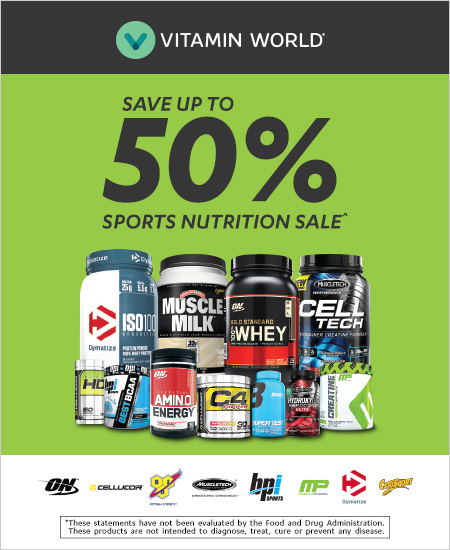 Vitamin World – Save Up to 50% Sports Nutrition Sale