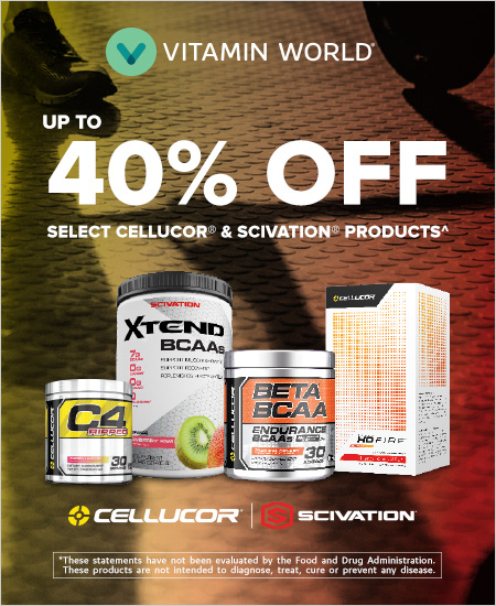 Vitamin World – Up to 40% off Cellucor and Scivation Products