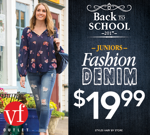 VF Outlet – Back to School 2017