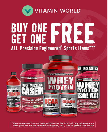 Vitamin World – BOGO FREE Mix & Match All Precision Engineered Sports Items