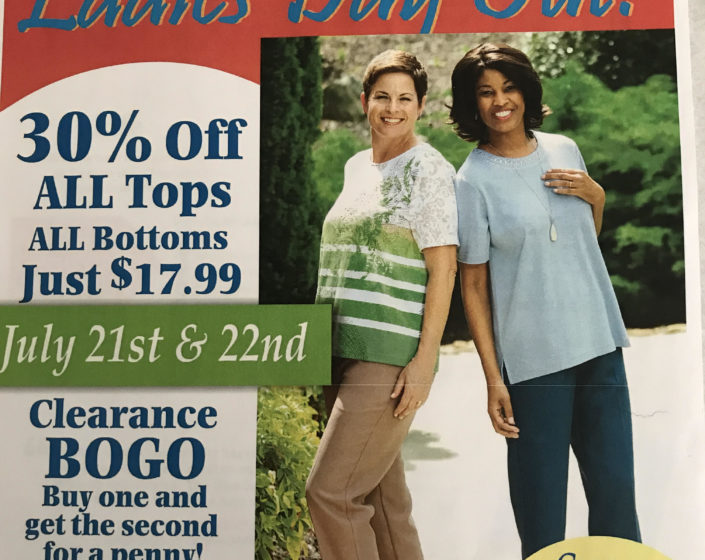 BonWorth – Ladies Day Out! 30% OFF all tops all bottoms
