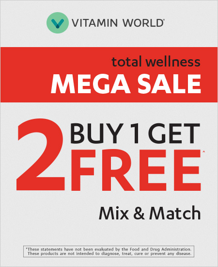 Vitamin World – B1Get 2 Free Mega Sale Mix & Match