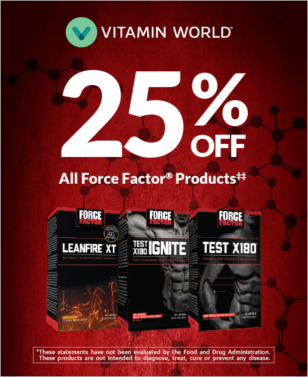 Vitamin World – All Force Factor Products