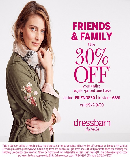 Dressbarn – Friends & Family Sale!