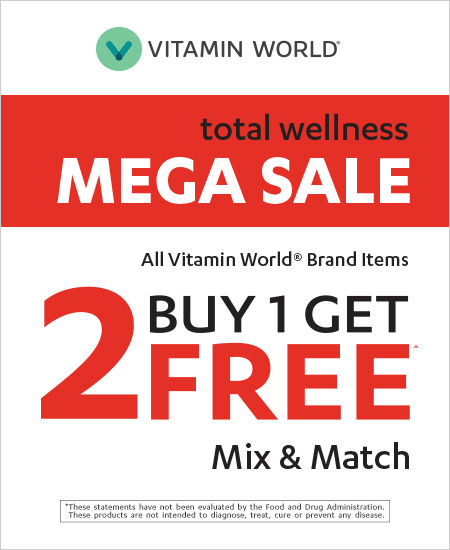 Vitamin World – Mix & Match,  Mega Sale