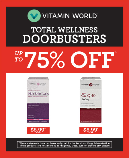 Vitamin World – Total Wellness Doorbusters up to 75% OFF