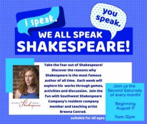 I Speak, You Speak, We all Speak Shakespeare! @ Youth Activity Room