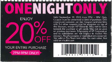 Womens Fashion Night Out Coupon