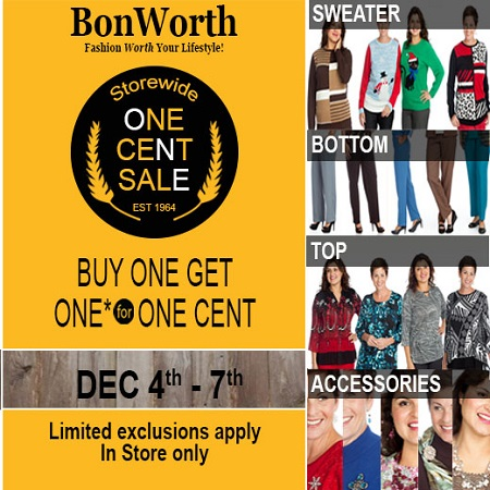 Bon Worth One Cent Sale