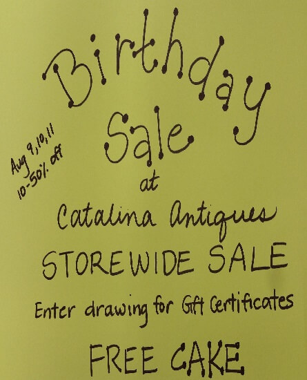 Cataline Antiques Birthday Sale