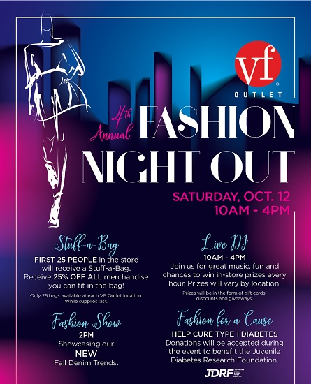 VF Outlet Fall Fashion Night Out, 10%-20% Off Entire Purchase